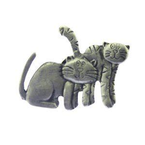Pewter Cat Brooch